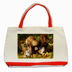 2 Bassets Classic Tote Bag (Red)