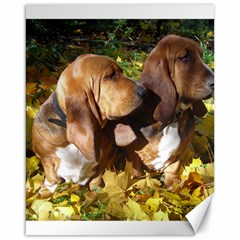 2 Bassets Canvas 16  x 20
