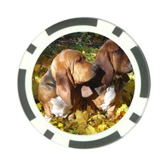 2 Bassets Poker Chip Card Guard
