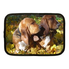 2 Bassets Netbook Case (Medium)