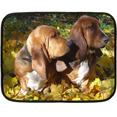 2 Bassets Double Sided Fleece Blanket (Mini)