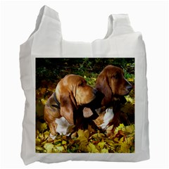 2 Bassets Recycle Bag (One Side)