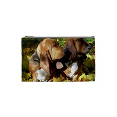 2 Bassets Cosmetic Bag (Small)