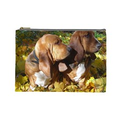2 Bassets Cosmetic Bag (Large)