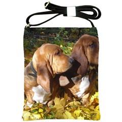 2 Bassets Shoulder Sling Bags