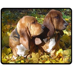 2 Bassets Fleece Blanket (Medium)