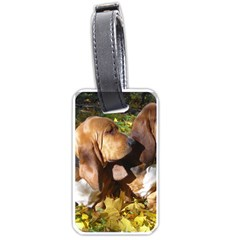 2 Bassets Luggage Tags (One Side)