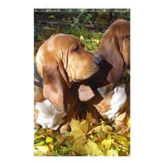 2 Bassets Shower Curtain 48  x 72  (Small)