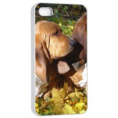 2 Bassets Apple iPhone 4/4s Seamless Case (White)