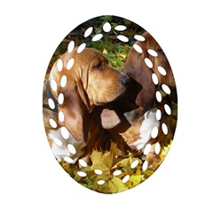 2 Bassets Oval Filigree Ornament (Two Sides)