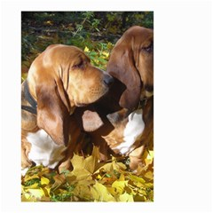2 Bassets Small Garden Flag (Two Sides)