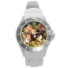 2 Bassets Round Plastic Sport Watch (L)