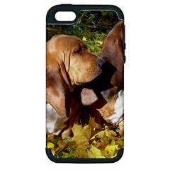2 Bassets Apple iPhone 5 Hardshell Case (PC+Silicone)