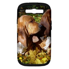 2 Bassets Samsung Galaxy S III Hardshell Case (PC+Silicone)