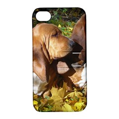 2 Bassets Apple iPhone 4/4S Hardshell Case with Stand