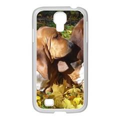 2 Bassets Samsung GALAXY S4 I9500/ I9505 Case (White)