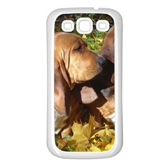 2 Bassets Samsung Galaxy S3 Back Case (White)