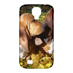 2 Bassets Samsung Galaxy S4 Classic Hardshell Case (PC+Silicone)