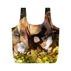 2 Bassets Full Print Recycle Bags (M)