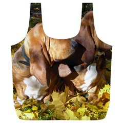 2 Bassets Full Print Recycle Bags (L)