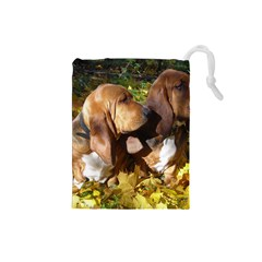 2 Bassets Drawstring Pouches (Small)