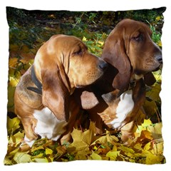 2 Bassets Standard Flano Cushion Case (One Side)