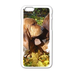 2 Bassets Apple iPhone 6/6S White Enamel Case