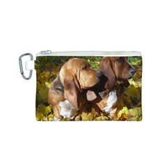 2 Bassets Canvas Cosmetic Bag (S)