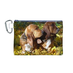 2 Bassets Canvas Cosmetic Bag (M)