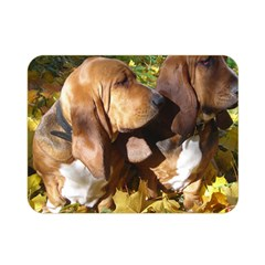 2 Bassets Double Sided Flano Blanket (Mini)