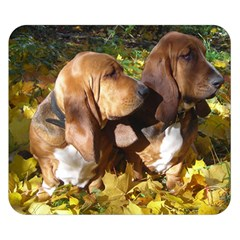 2 Bassets Double Sided Flano Blanket (Small)
