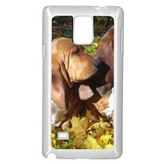 2 Bassets Samsung Galaxy Note 4 Case (White)