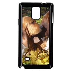 2 Bassets Samsung Galaxy Note 4 Case (Black)