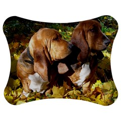 2 Bassets Jigsaw Puzzle Photo Stand (Bow)