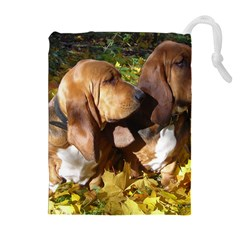 2 Bassets Drawstring Pouches (Extra Large)