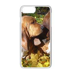 2 Bassets Apple iPhone 7 Plus White Seamless Case