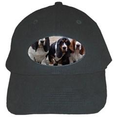 3 Basset Hound Puppies Black Cap