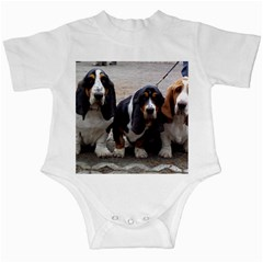 3 Basset Hound Puppies Infant Creepers