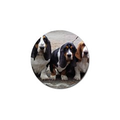 3 Basset Hound Puppies Golf Ball Marker