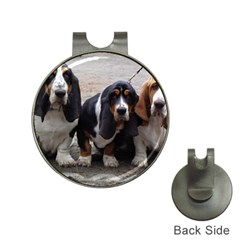 3 Basset Hound Puppies Hat Clips with Golf Markers