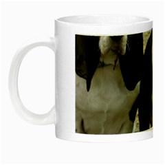 3 Basset Hound Puppies Night Luminous Mugs