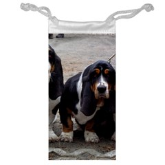 3 Basset Hound Puppies Jewelry Bag