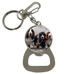 3 Basset Hound Puppies Button Necklaces
