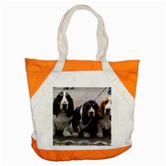 3 Basset Hound Puppies Accent Tote Bag