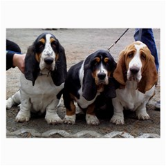 3 Basset Hound Puppies Large Glasses Cloth (2-Side)