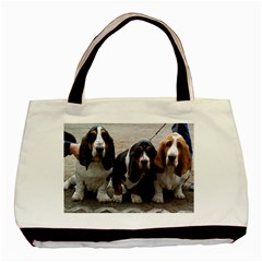 3 Basset Hound Puppies Basic Tote Bag (Two Sides)