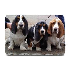 3 Basset Hound Puppies Plate Mats