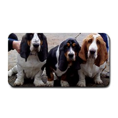 3 Basset Hound Puppies Medium Bar Mats