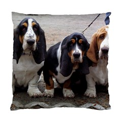 3 Basset Hound Puppies Standard Cushion Case (Two Sides)