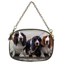 3 Basset Hound Puppies Chain Purses (Two Sides)